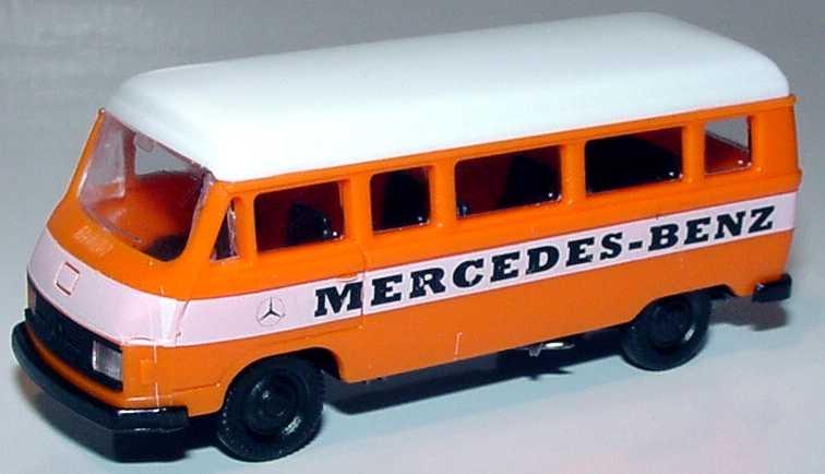 Foto 1:87 Mercedes-Benz L207 Bus Mercedes-Benz orange/weiß (eingesetzte Scheinwerfer) APS Collection