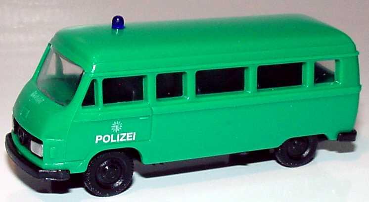 Foto 1:87 Mercedes-Benz L207 Bus Polizei grün APS Collection