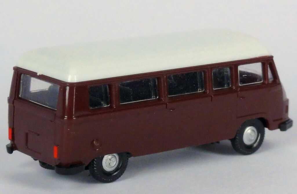 Foto 1:87 Mercedes-Benz L207 Bus dunkelviolett, Dach weiß APS Collection
