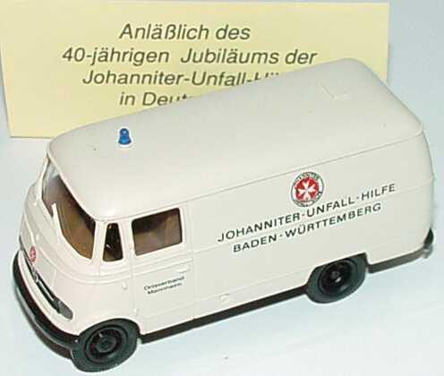Foto 1:87 Mercedes-Benz L319 Kasten Johanniter-Unfall-Hilfe Baden-Württemberg, Ortsverband Mannheim Brekina