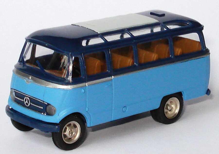 Foto 1:87 Mercedes-Benz O 319 hellblau/dunkelblau Brekina 36141