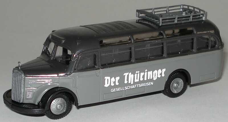 Foto 1:87 Mercedes-Benz O 3500 Der Thüringer Gesellschaftsreisen Praliné 1027
