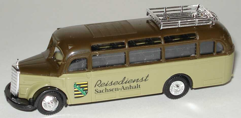 Foto 1:87 Mercedes-Benz O 3500 Reisedienst Sachsen-Anhalt Praliné 1031