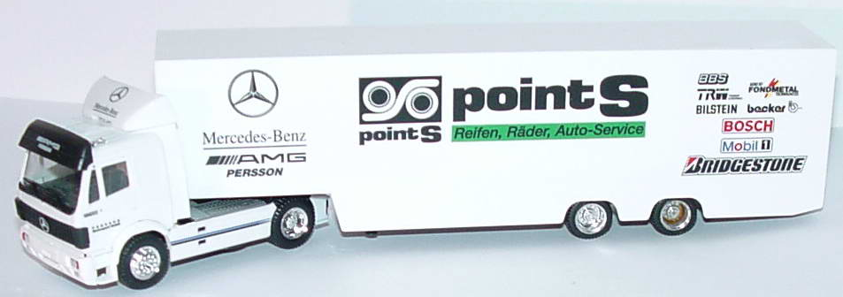 Foto 1:87 Mercedes-Benz SK Fv Cv RenntransportSzg 2/2 Persson, Point S herpa 036825
