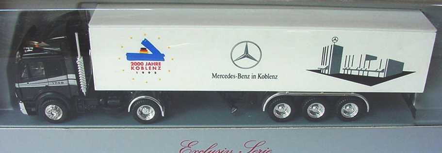 Foto 1:87 Mercedes-Benz SK Koffersattelzug Mercedes-Benz in Koblenz 2000 Jahre Koblenz - herpa