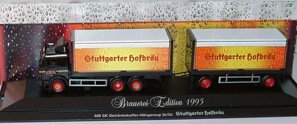 Foto 1:87 Mercedes-Benz SK GetränkeKoHgz 3/2 Stuttgarter Hofbräu herpa 183475