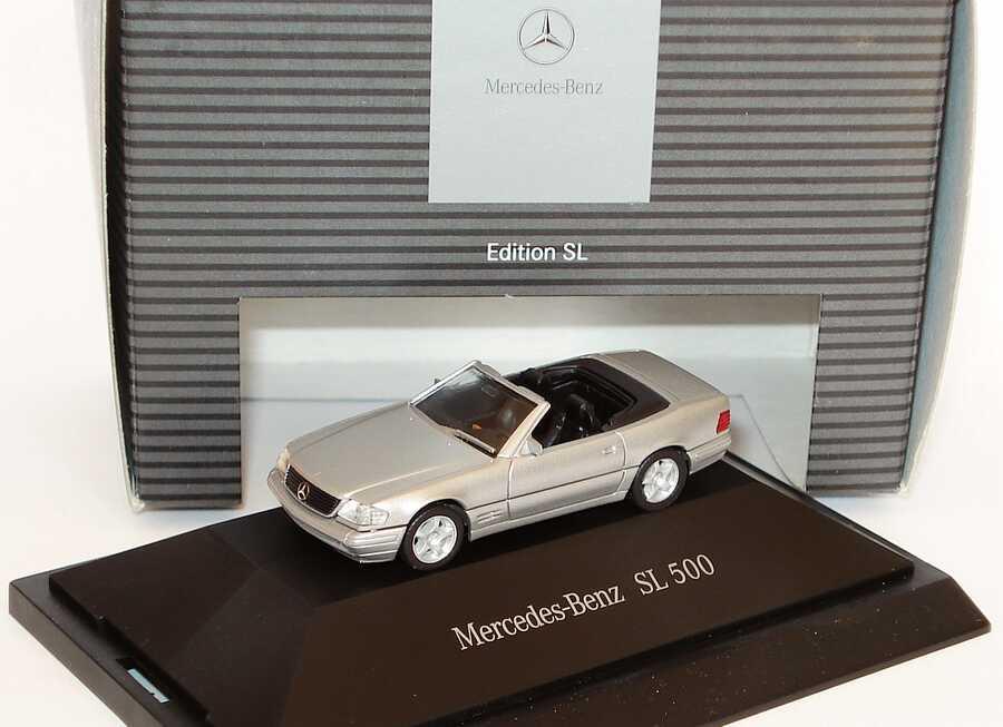 Foto 1:87 Mercedes-Benz SL 500 R129 MOPF brillantsilber-met. - Werbemodell - herpa B66960600