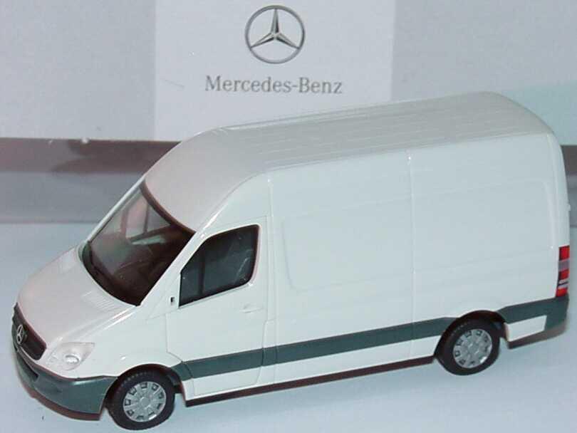 Foto 1:87 Mercedes-Benz Sprinter NCV3 Kasten Hochdach arktisweiß - Werbemodell - herpa B66000757