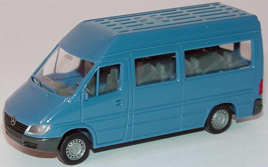 Foto 1:87 Mercedes-Benz Sprinter Facelift Bus graublau Wiking 28501