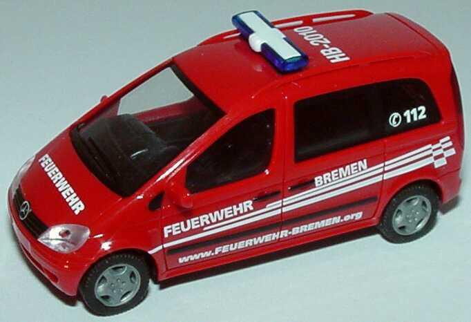 Foto 1:87 Mercedes-Benz Vaneo MZF Feuerwehr Bremen, HB-2010 herpa 046404