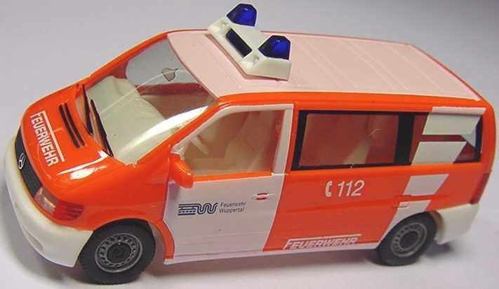Foto 1:87 Mercedes-Benz Vito Bus Feuerwehr Wuppertal herpa 044240