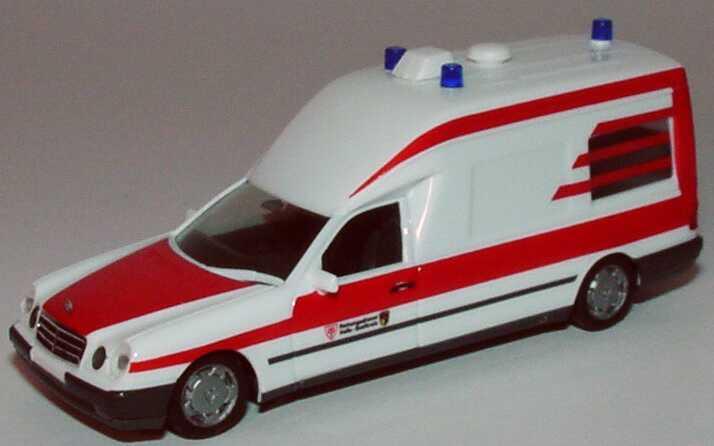 Foto 1:87 Mercedes-Benz W210 Binz KTW ASB Rettungsdienst Halle herpa 045780