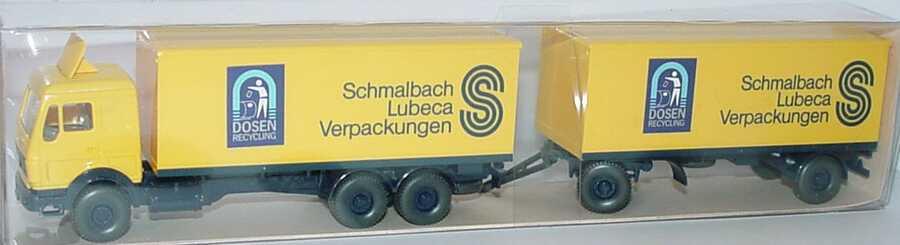 HE Wiking 457 230 MB Koffer Lastzug Schmalbach