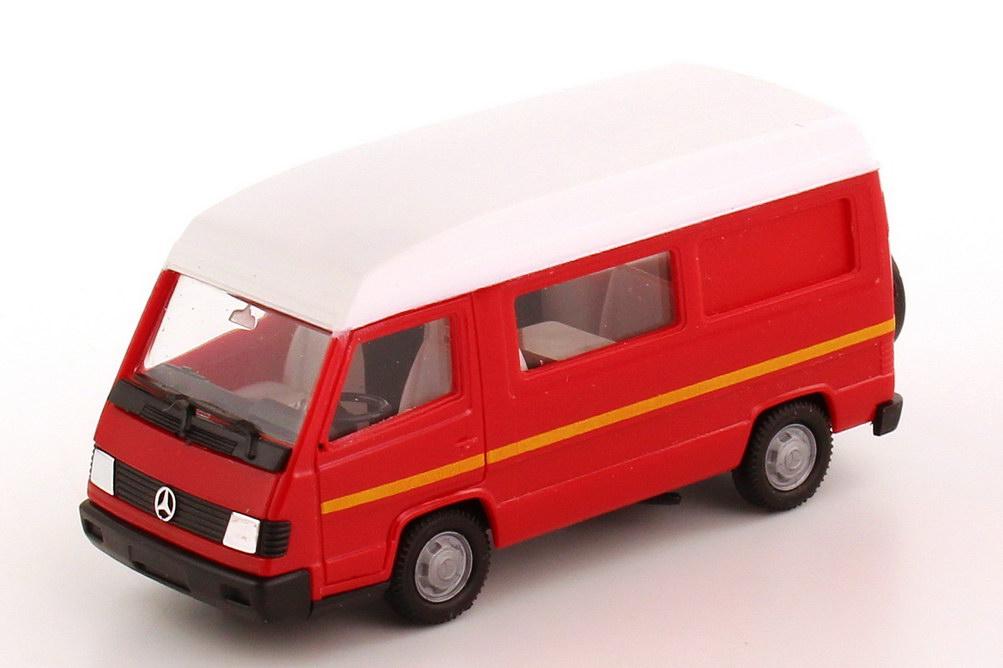 Foto 1:87 Mercedes-Benz 100D II Campingbus Wohnmobil rot - herpa 042307