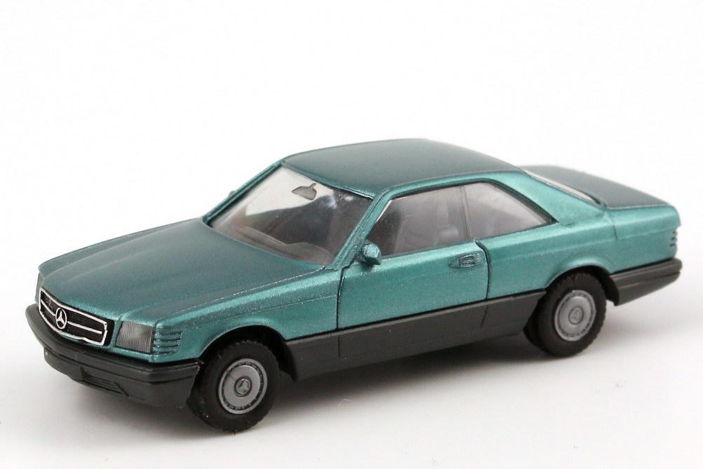 Foto 1:87 Mercedes-Benz 560SEC (C126) beryll-met. (1. Version) herpa 3054
