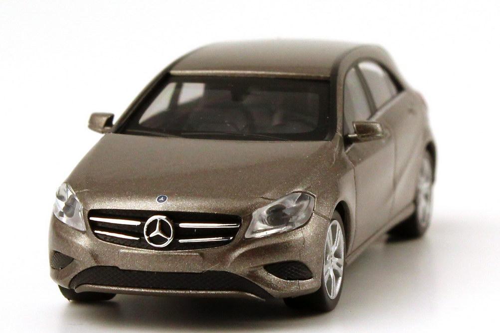 Foto 1:87 Mercedes-Benz A-Klasse 2012 (W176) monolith-grau-met. Werbemodell herpa B66960120