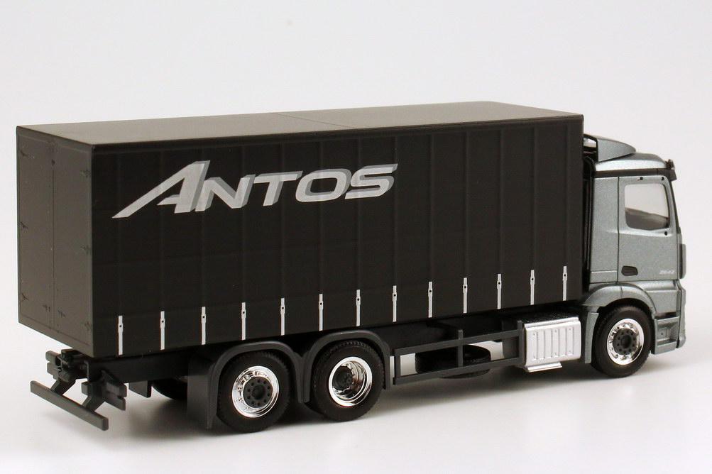 Foto 1:87 Mercedes-Benz Antos 3a GP-Lkw andorit-grau-met. Werbemodell - herpa B6 600 4091
