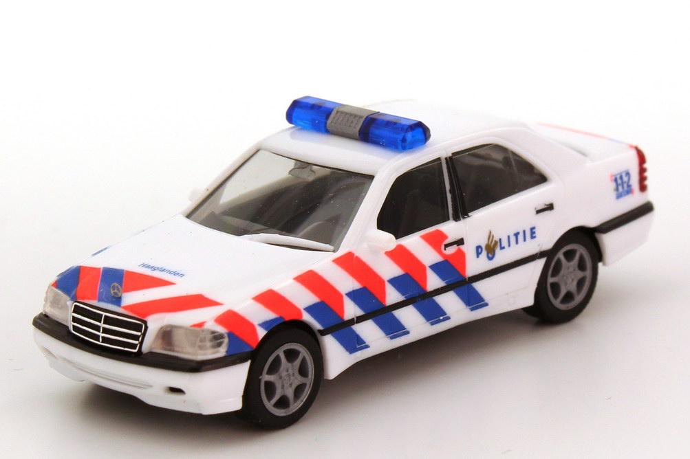 Foto 1:87 Mercedes-Benz C 220 Facelift (W202 MOPF) Politie Haaglanden (Polizei NL) herpa