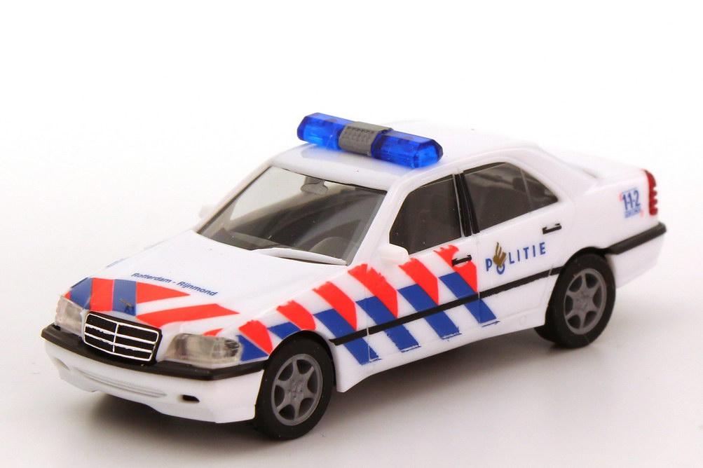 Foto 1:87 Mercedes-Benz C 220 Facelift (W202 MOPF) Politie Rotterdam-Rijnmond (Polizei NL) herpa