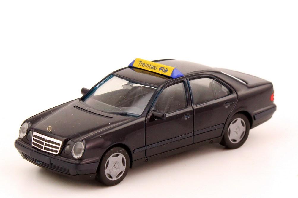 Foto 1:87 Mercedes-Benz E-Klasse E 280 (W210) Taxi dunkelblau Treintaxi herpa