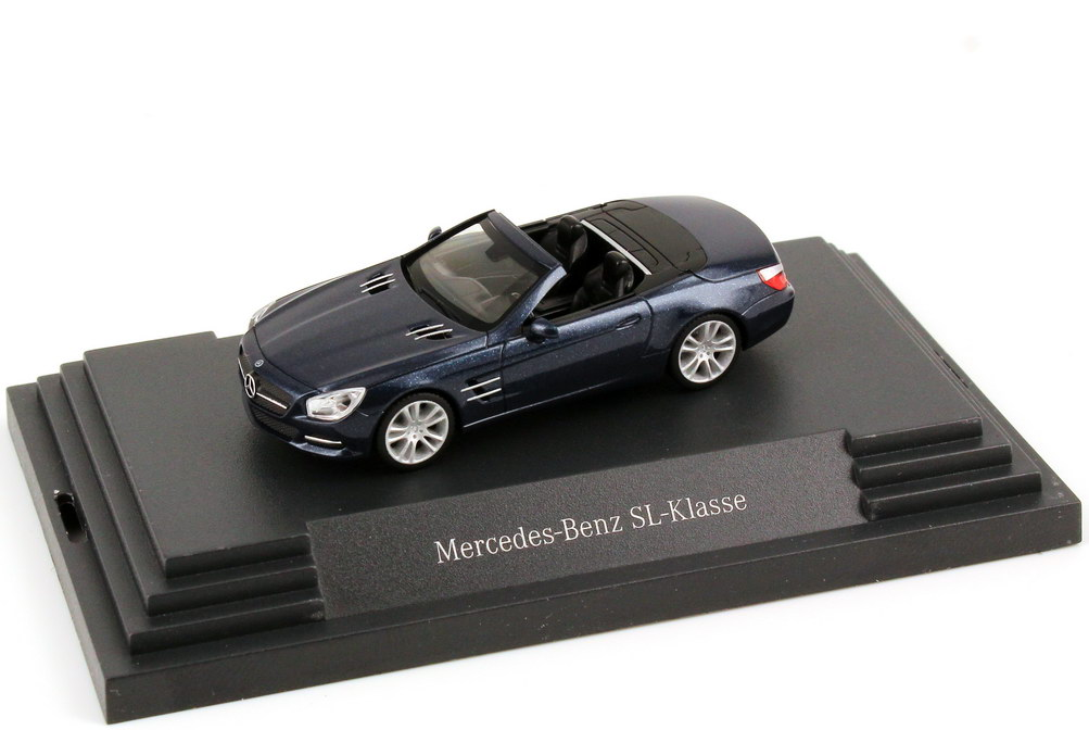 Foto 1:87 Mercedes-Benz SL-Klasse 2012 (R231) cavansit-blau-met. Werbemodell herpa B66960102