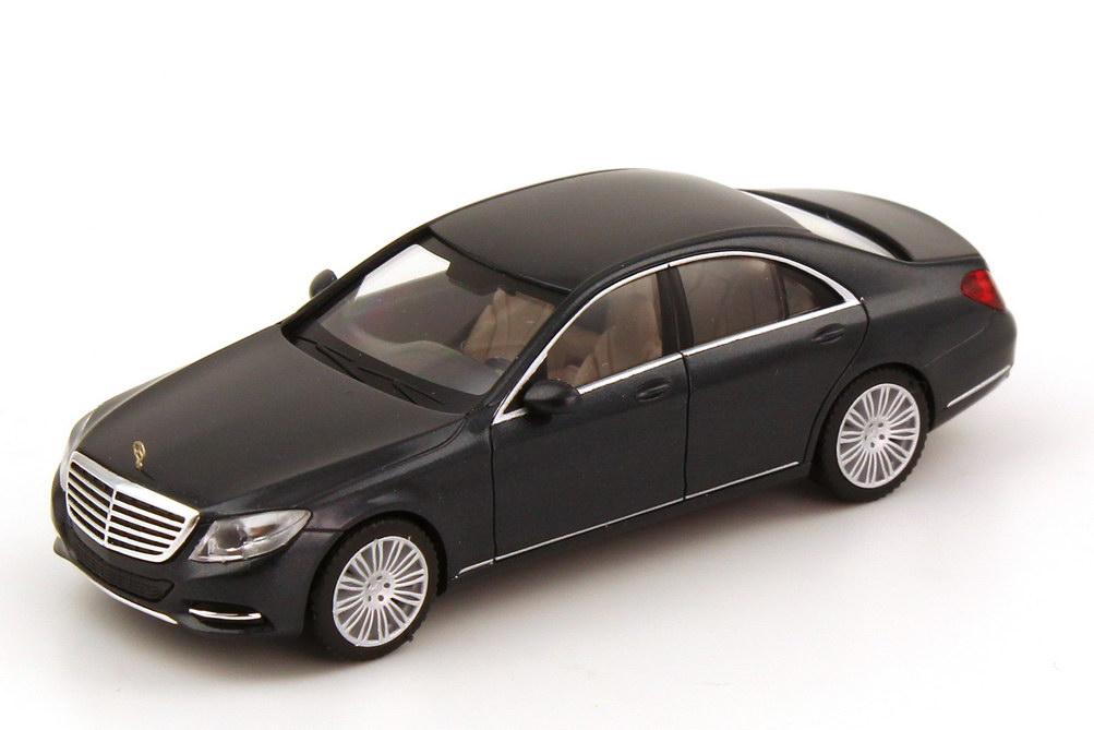 Foto 1:87 Mercedes-Benz S-Klasse 2013 Langversion (V222) blauanthrazit-met. Werbemodell herpa B66960150