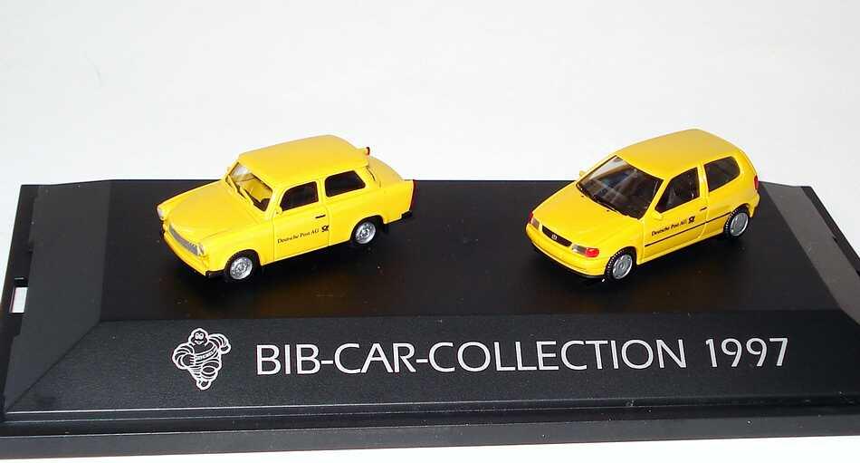 Foto 1:87 Michelin BIB-Car-Collection 1997 (Trabant 601S Deutsche Post AG + VW Polo 3türig Deutsche Post AG) herpa