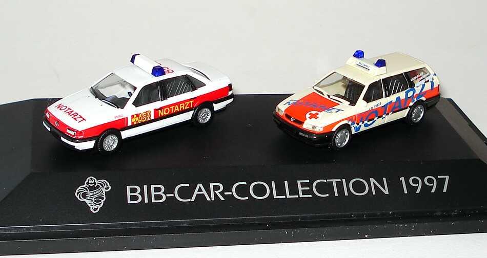 Foto 1:87 Michelin BIB-Car-Collection 1997 (VW Passat ASB Notarzt + VW Passat Variant ´94 BRK Notarzt) herpa