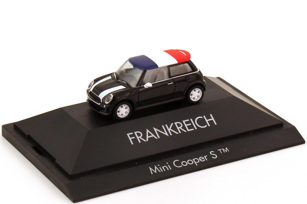 Foto 1:87 Mini Cooper S (R53) Länder-Mini Frankreich herpa 101516