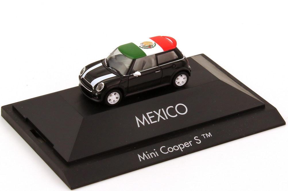 Foto 1:87 Mini Cooper S (R53) Länder-Mini Mexico herpa 101561