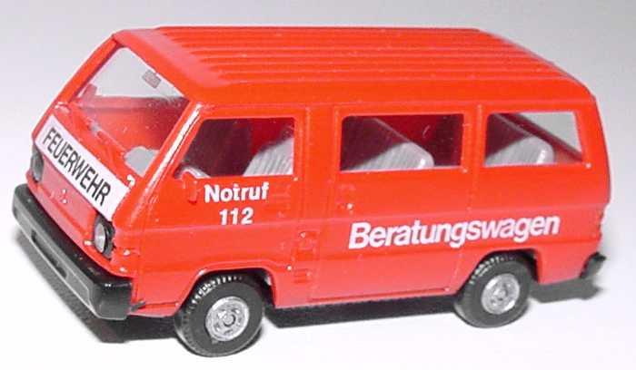 Foto 1:87 Mitsubishi L300 I Bus Feuerwehr Beratungswagen Rietze