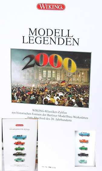 Foto 1:87 Modell-Legenden 2000 (Opel Kapitän, DKW Spezial, Porsche 356 Cabrio, MB 280S, Borgward Arabella in Video-Hülle) Wiking 9901858