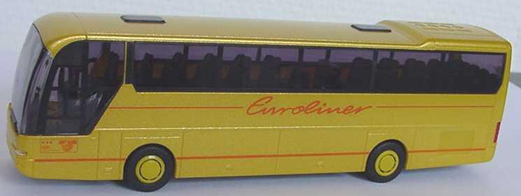 Foto 1:87 Neoplan Euroliner Euroliner goldgelb-met. (Sterne-Druck rot) Rietze
