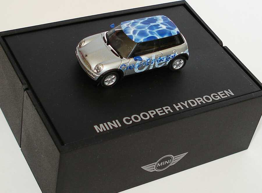 Foto 1:87 New Mini Cooper Hydrogen Clean Energy Werbemodell herpa 80410140442