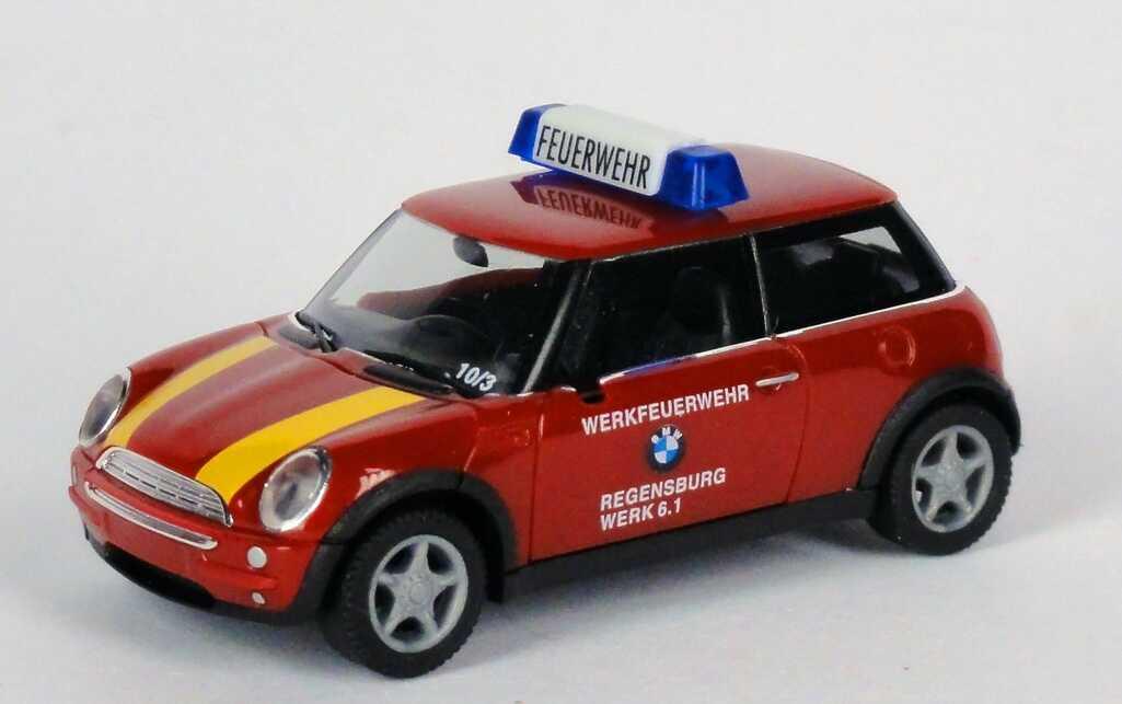 Foto 1:87 New Mini Cooper Werksfeuerwehr, BMW Regensburg, Werk 6.1 herpa 045889