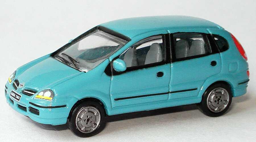 Foto 1:87 Nissan Almera Tino grautürkis Werbemodell Nissan
