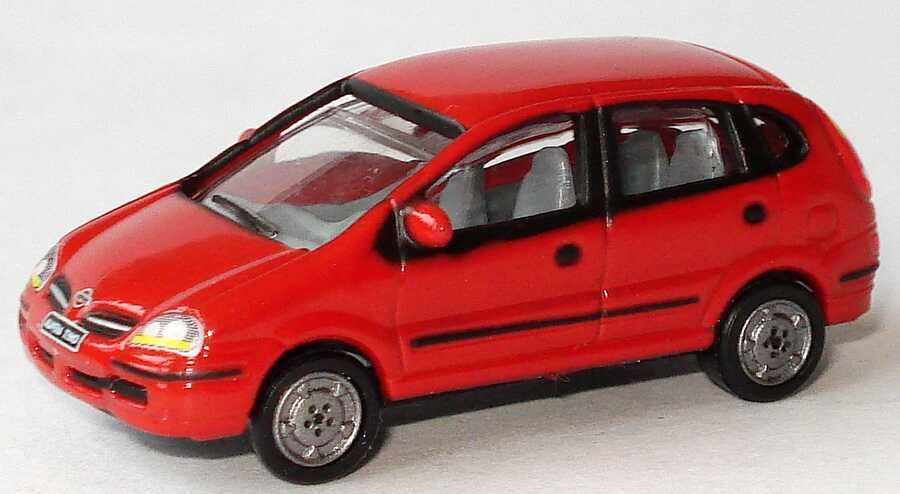 Foto 1:87 Nissan Almera Tino rot Werbemodell Nissan