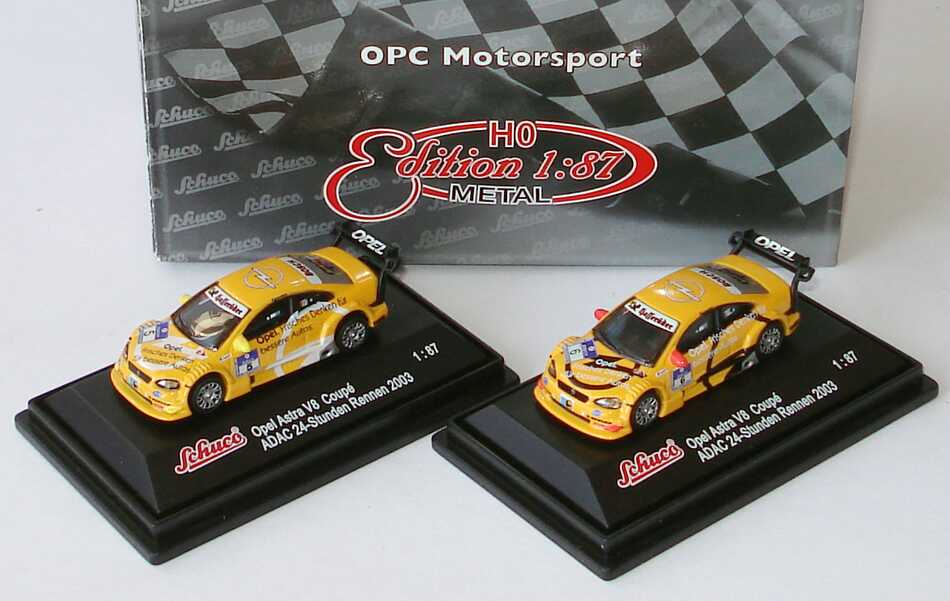 Foto 1:87 OPC Motorsport Setpackung (2x Opel Astra V8 Coupé ADAC 24-Stunden Rennen 2003 (Nr.5 + Nr.6)) Schuco 21757