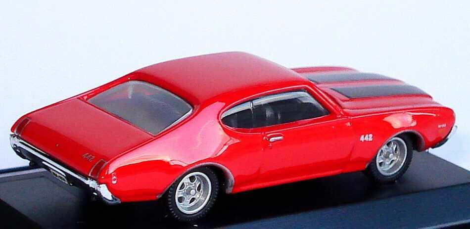 Foto 1:87 Oldsmobile 442 (1969) rot Model Power 19256