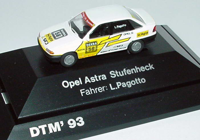 Foto 1:87 Opel Astra Stufenheck Dellenbach, Agip Nr.58 L. Pagotto (DTM 1993) Rietze 90107