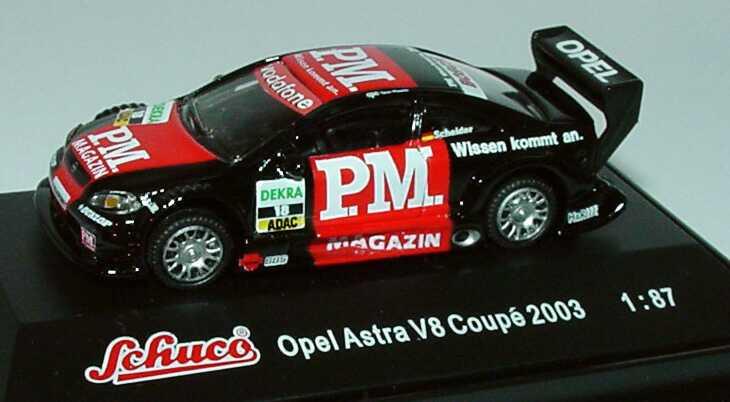 Foto 1:87 Opel Astra V8 Coupé DTM 2003 P.M. Magazin Nr.18, Scheider Schuco 21773