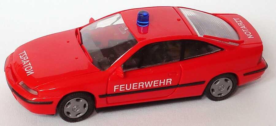 Foto 1:87 Opel Calibra Feuerwehr Notarzt rot Rietze