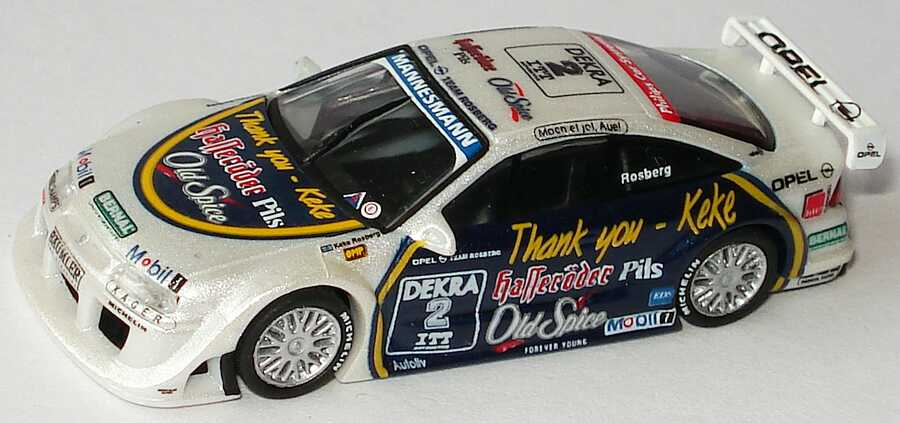 Foto 1:87 Opel Calibra V6 DTM 1995 Rosberg, Thank you - Keke, Hasseröder, Old Spice Nr.2, Rosberg Paul´s Model Art 870954282