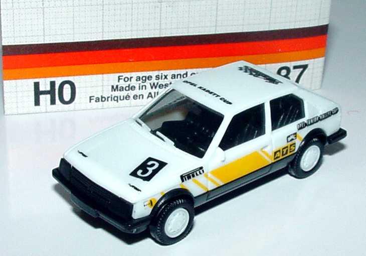 Foto 1:87 Opel Kadett D SR Motorsport Opel-Junior-Rallye-Cup Nr.3 (mit Naßschiebebogen) herpa 3560