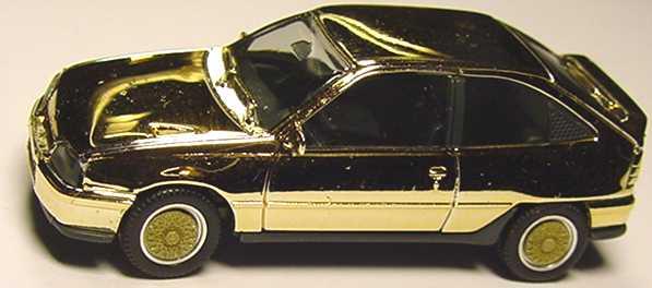 Foto 1:87 Opel Kadett GSi goldchrom, BBS-Felgen gold herpa