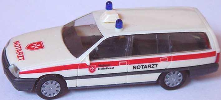 Foto 1:87 Opel Omega Caravan Notarzt Malteser Hilfsdienst herpa 4122