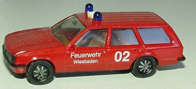 Foto 1:87 Opel Rekord Caravan Feuerwehr Wiesbaden 02 herpa 4064/01A