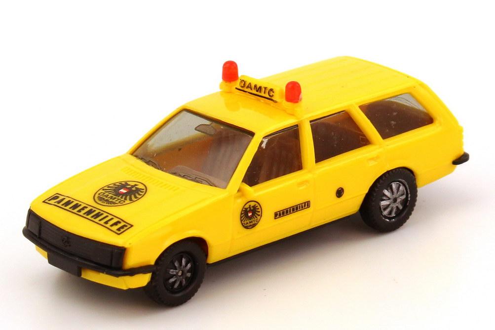 Foto 1:87 Opel Rekord E Caravan ÖAMTC Pannenhilfe, Decals angebracht herpa
