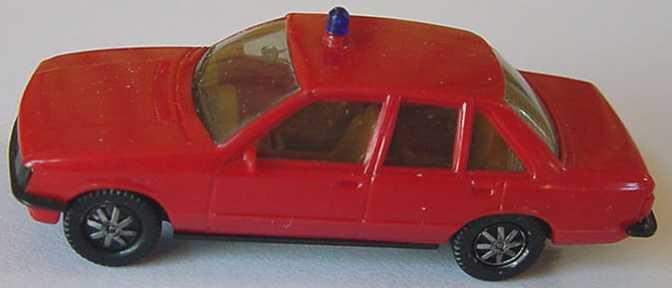 Foto 1:87 Opel Rekord Feuerwehr rot (1 Warnleuchte) herpa 4054