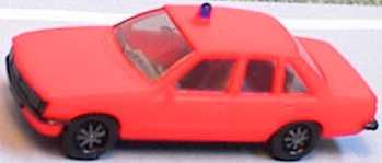 Foto 1:87 Opel Rekord Feuerwehr tagesleuchtrot (1 Warnleuchte) herpa 4054/2
